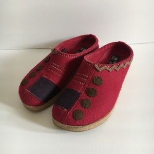Haflinger Grizzly Wool Clogs Comfort Mules